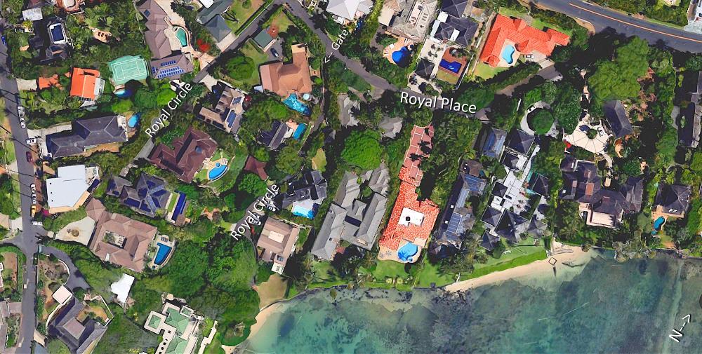 Royal Circle & Royal Place - Aerial Map