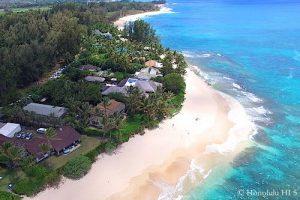 Kawailoa North Shore Beachfront Homes - Aerial Photo