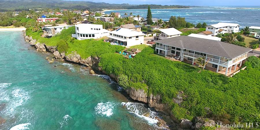 Laie Oahu North Shore Oceanfront Homes