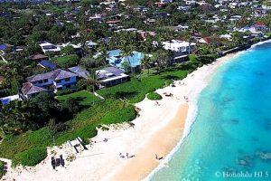 Lanikai Beachfront Homes - Aerial Photo