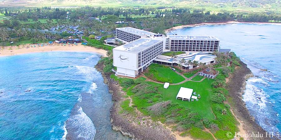 Turtle Bay Resort on Oahu's North Shore - Aerial Photo