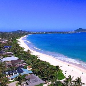 Kailua Beachside Beachfront Homes - Drone Photo