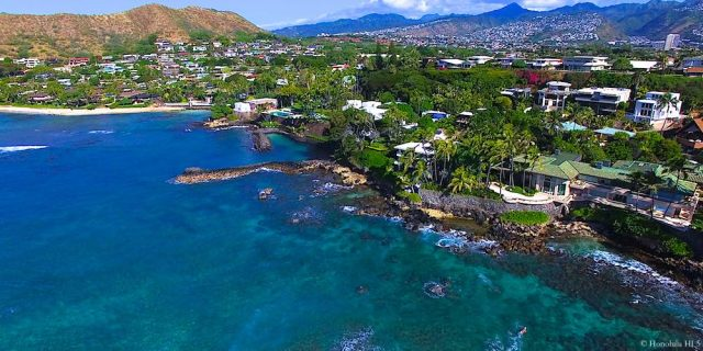 Kaikoo Place Diamond Head Homes Drone Photo