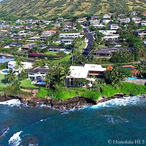 Koko Kai Oceanfront Homes - Drone Photo