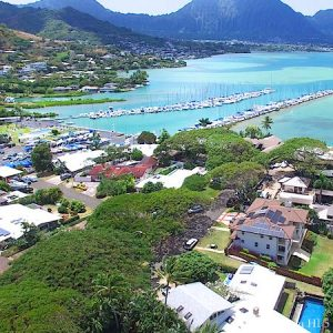 Mahinui Bay Homes in Kaneohe - Drone Photo