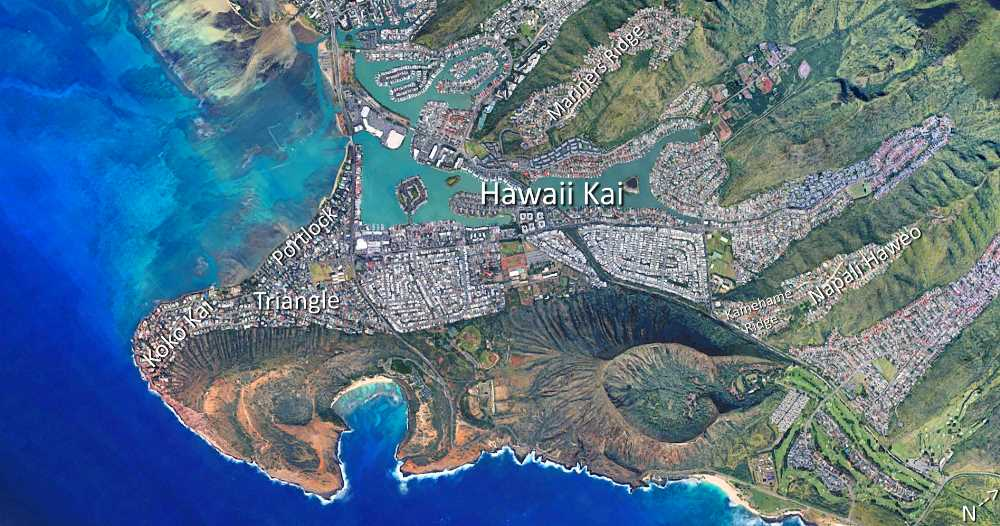 Hawaii Kai Satellite Map Photo