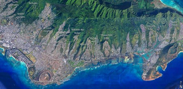 Honolulu Ocean View Homes - Map