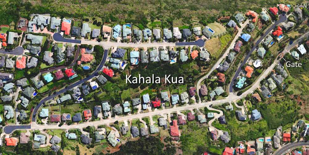 Kahala Kua Satellite Map Photo