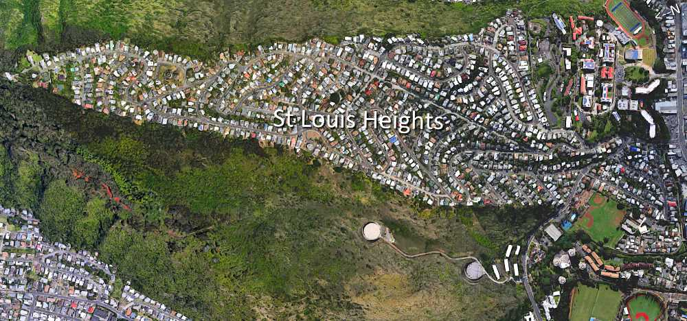 Saint Louis Heights Satellite Map Photo