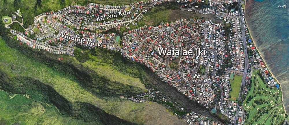 Waialae Iki Satellite Map Photo