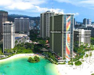 Hilton Hawaiian Village - The Three Towers on Waikiki Beach