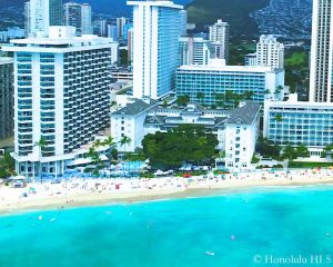 Moana Surfrider, Waikiki Hotel - Drone Photo From Waikiki Beach