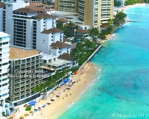 Outrigger Reef Waikiki Beach - Drone Photo