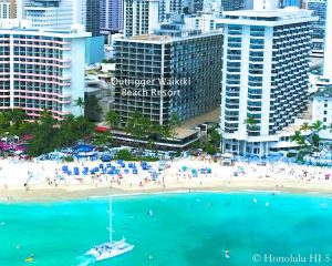 Outrigger Waikiki Beach Resort - Drone Photo From Waikiki Beach