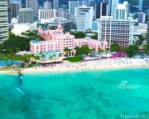 Royal Hawaiian Hotel Waikiki - Drone Photo