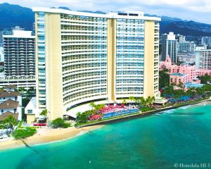 Sheraton Waikiki Hotel - Drone Photo Seem From Waikiki Beach