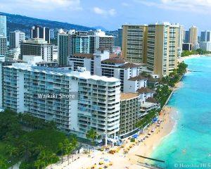 Waikiki Shore. Drone Photo