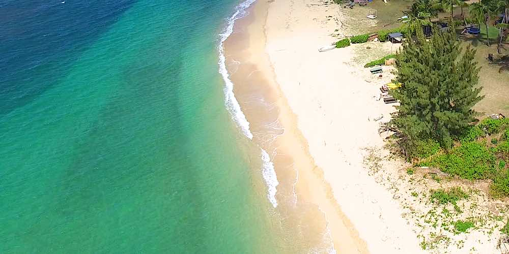 Beach in Waialua on Oahu's North Shore