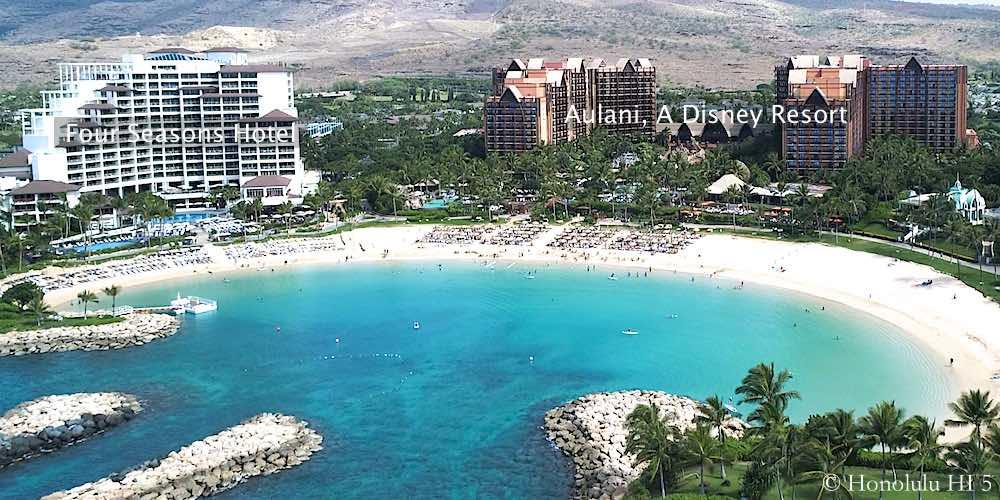 Four Seasons Hotel and Aulani Hotel - Drone Photo