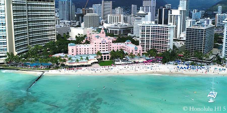 Royal Hawaiian Hotel - Drone Photo