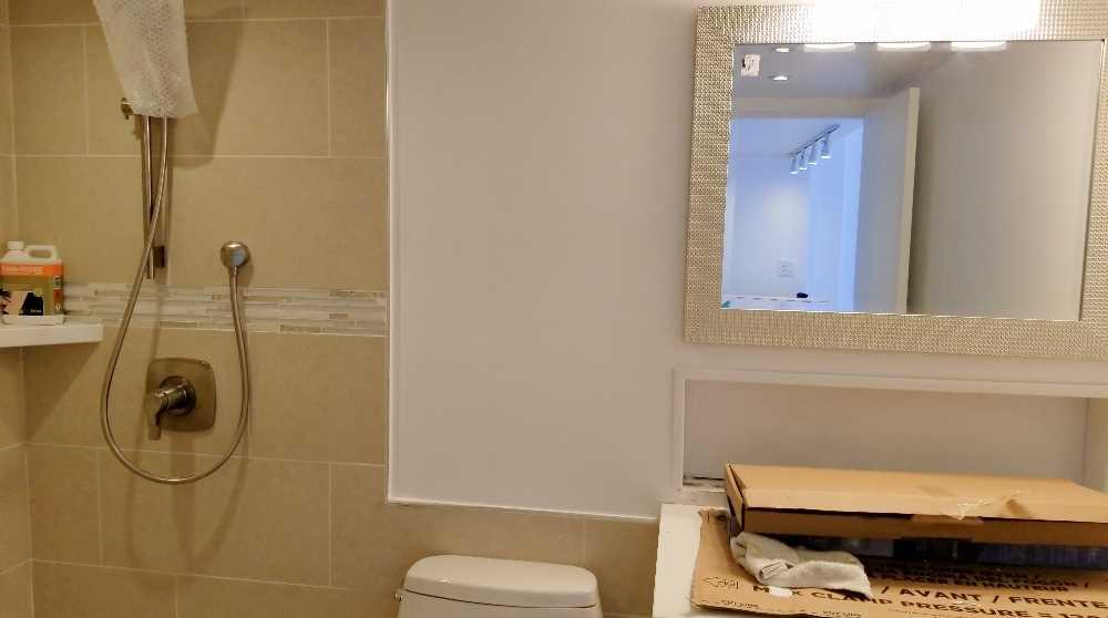 Week 10 - Bathroom mirror and light
