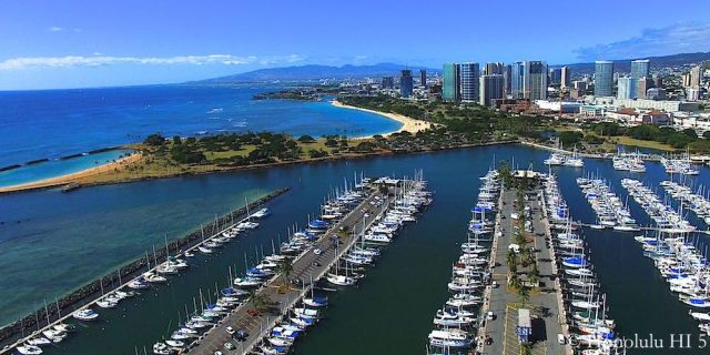 Ala Wai Harbor and Ala Moana Beach Park