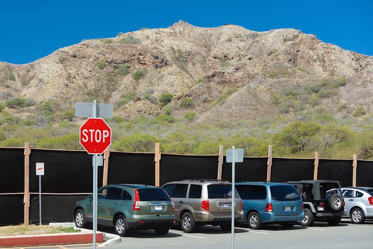 Cars Parked Near Diamond Head