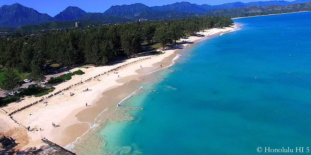 Kailua Beach Park - Aerial Photo