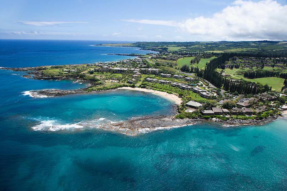 Maui Coastline - Aerial Photo