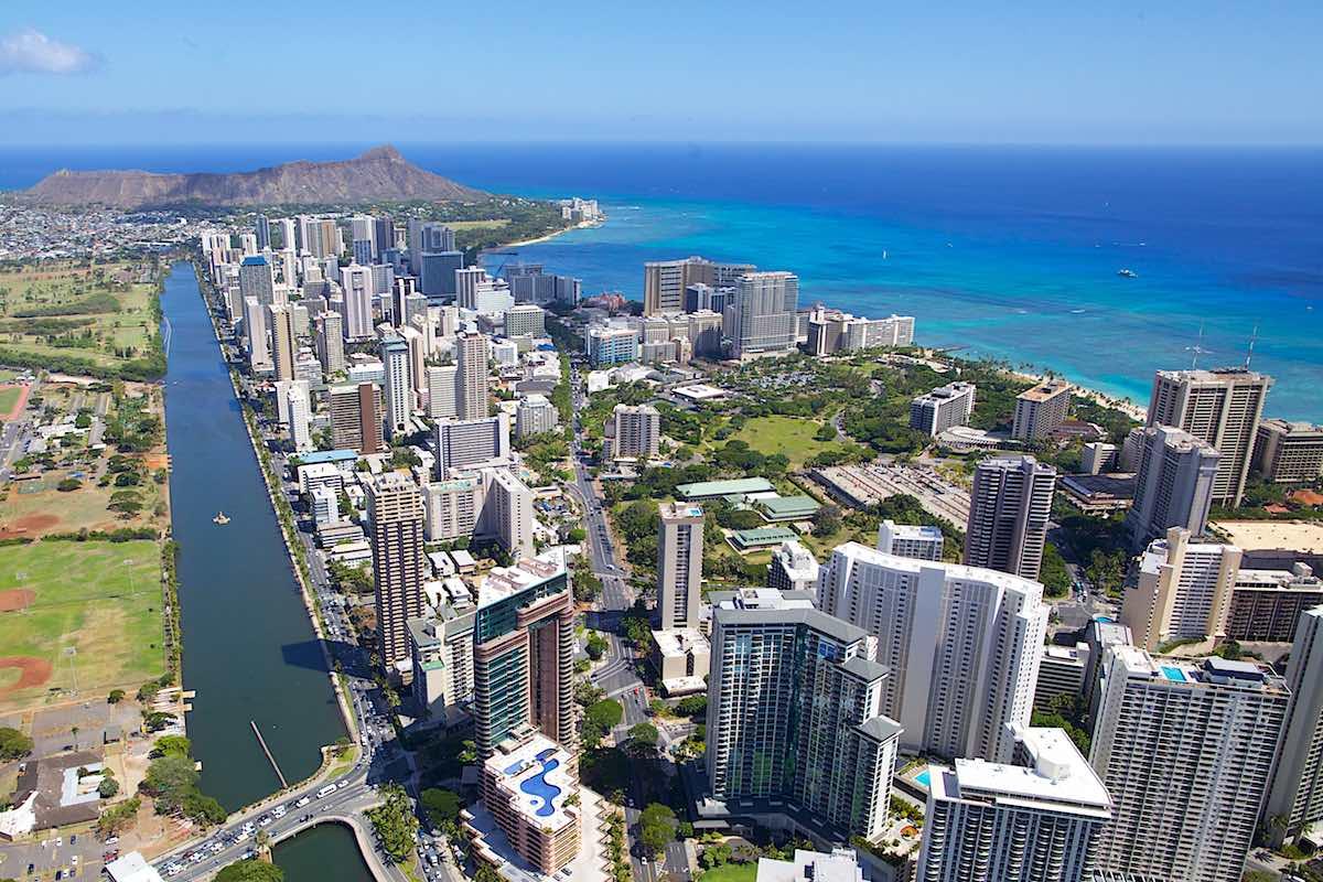Waikiki Condos and Hotels - Aerial Photo