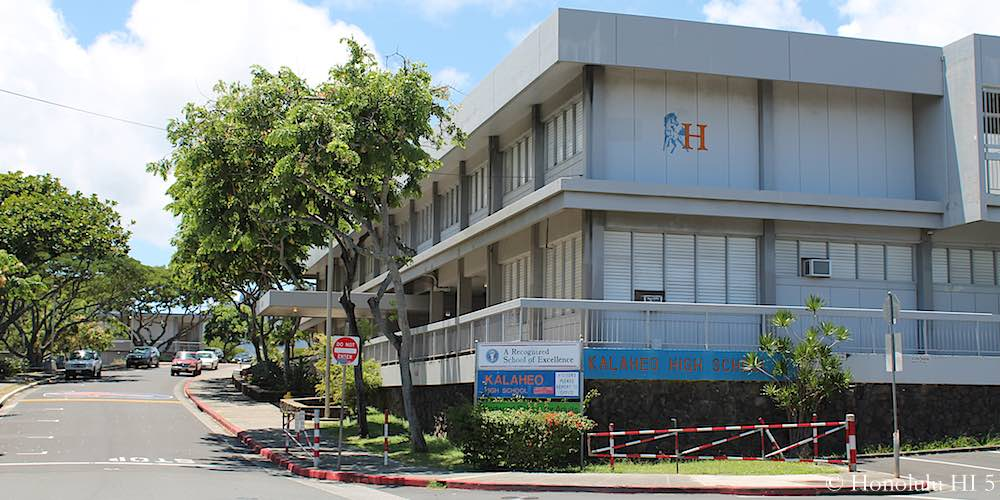 Kalaheo High School in Kailua