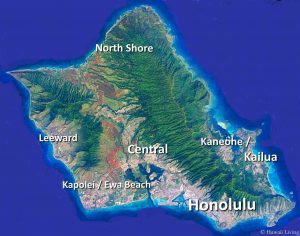 Oahu Map Shows Major Cities