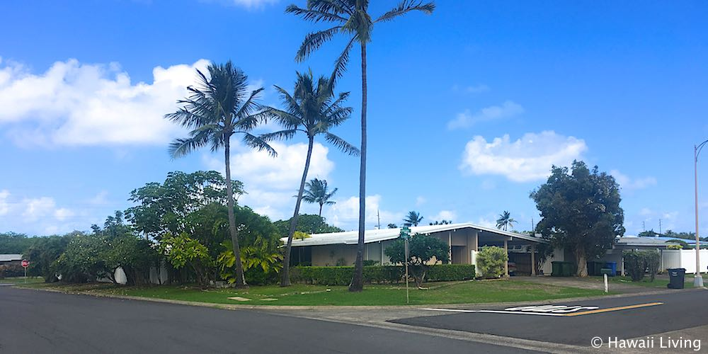 Streets in Aikahi Neighborhood in Kailua
