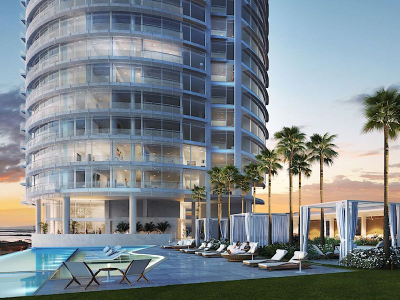 Cylinder at Gateway Towers Pool Rendering