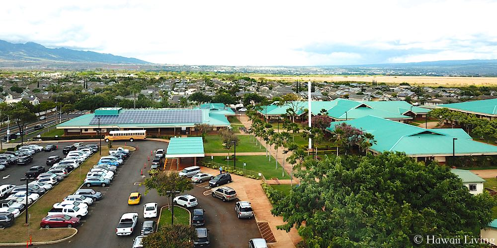 Holomua Elementary School - Aerial Photo