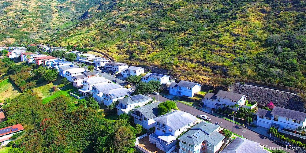 Kamiloiki Homes - Aerial Photo