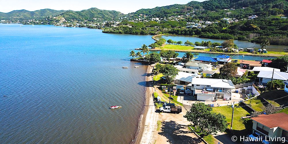Kayakers in Kaneohe Bay - Aerial Photo