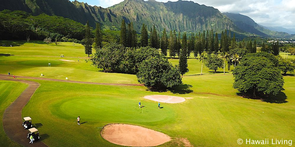 Pali Golf Course - Aerial Photo