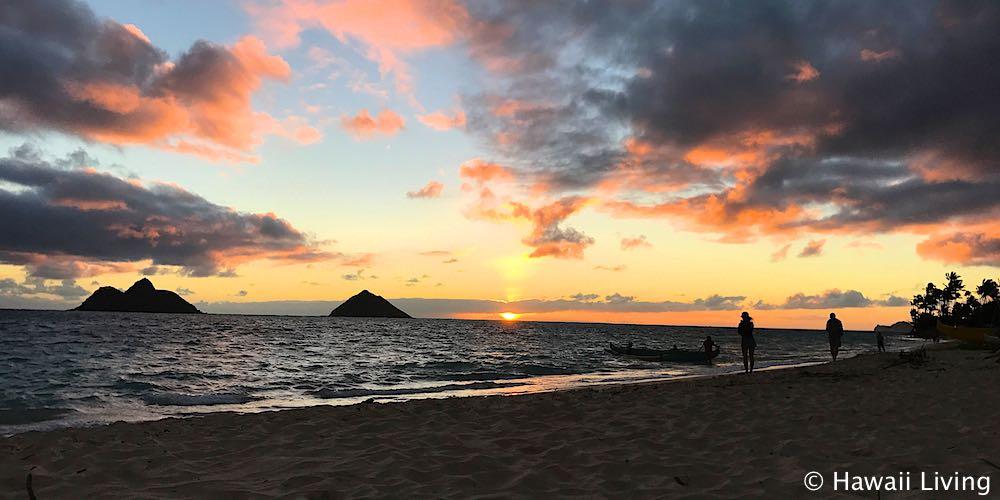 Sunrise in Kailua - Seen From Lanikai Beach
