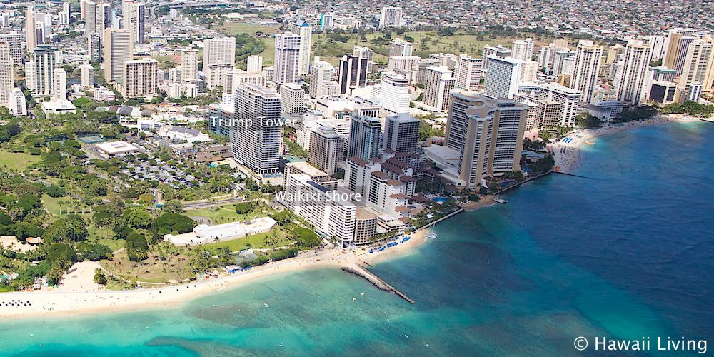 Trump Tower Waikiki and Waikiki Shore - Aerial Photo
