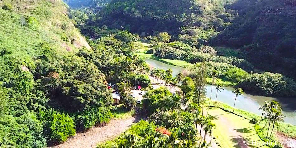 Waimea Valley - Aerial Photo