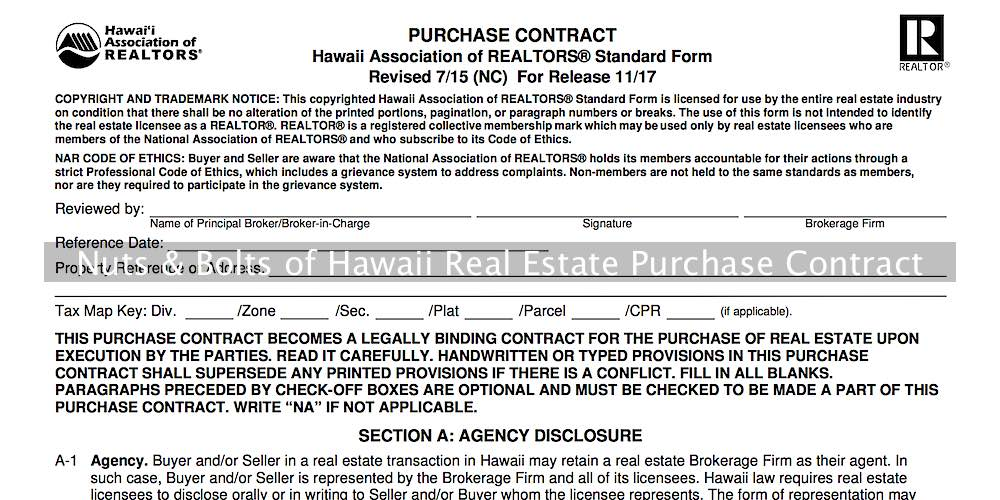 Hawaii Real Estate Purchase Contract  Easy Review  Hawaii Living
