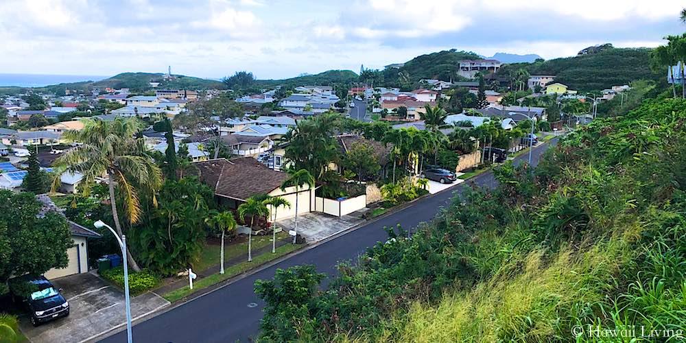 Aupupu Street in the Hillcrest Neighborhood in Kailua