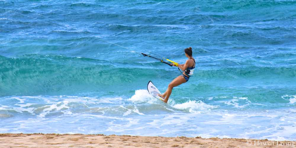 Kite Surfer on Oahu's North Shore
