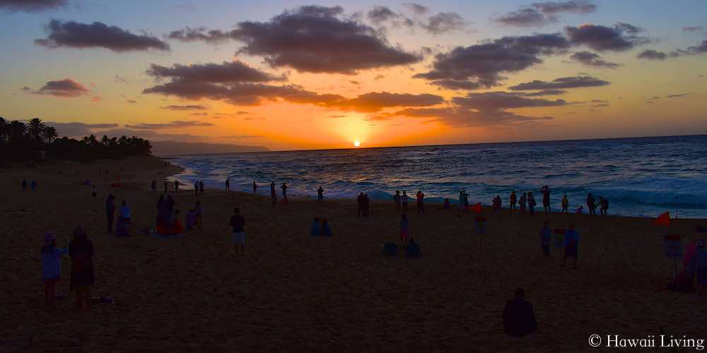 Sunset at Sunset Beach on Oahu's North Shore