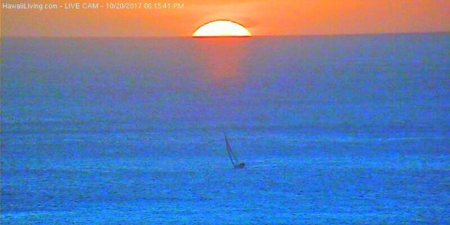 Sailboat towards the sunset