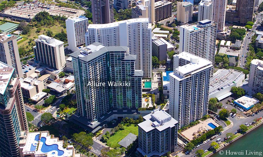 Allure Waikiki - Aerial Photo