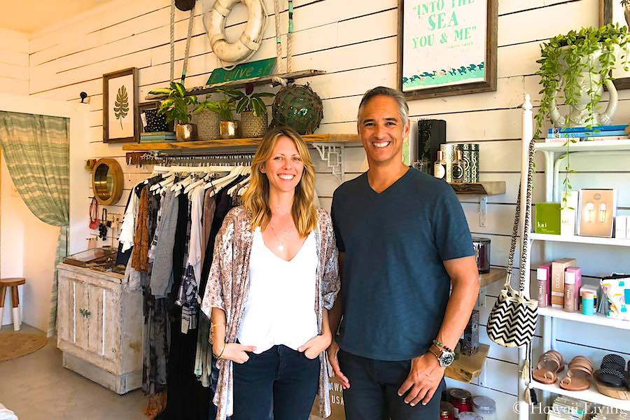 Ali, owner of Olive & Oliver with Marcel from Hawaii Living.
