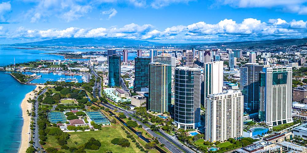 Kakaako Condos Drone Photo