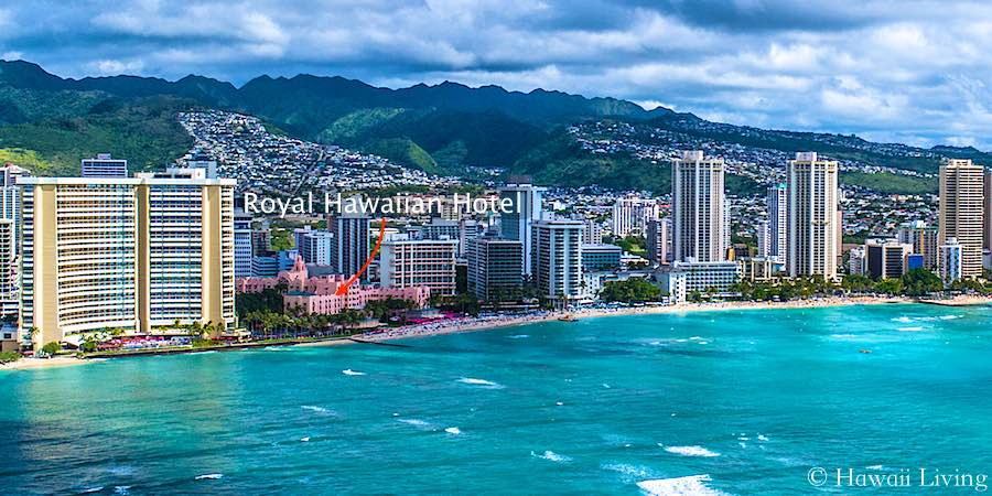 Royal Hawaiian Hotel Waikiki - Drone Photo
